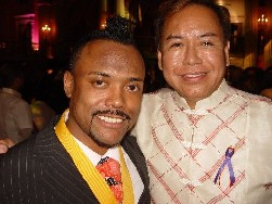 Bernardo Bernardo & Apl.d. Ap of Black-Eyed Peas at the Fil-Am Library's Centennial Celebration, October 2006