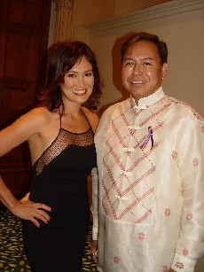 Bernardo Bernardo & Tia Carrere at Fil-Am Library's Centennial Celebration, October 2006