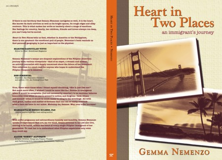 "Book jacket of ""Heart in Two Places: An Immigrant's Journey"""
