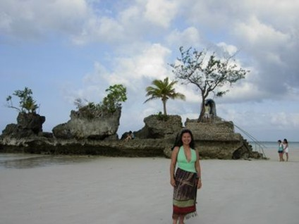 Carol at a Boracay Station (December 2006-January 2007)