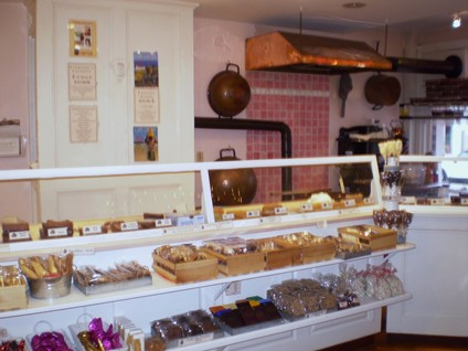 A nice, simple set-up for a candy store that customers like to see - photo by Lorna Dietz