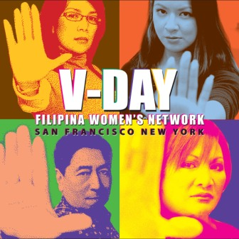 Filipina Women's Network, www.FFWN.org - poster for FWN 2008 performances of The Vagina Monologues, Usaping Puki, & MMRP; design & lay-out by Al Perez, alsperez@pacbell.net