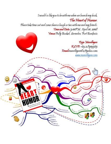Raju Mandhyan's new book, Heart of Humor, to be launched at Fully Booked, Serenda at Fort Bonifacio on April 1, 2008