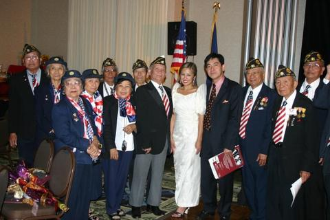 October 29, 2005 at Wyndham Hotel - Filipino American Veterans from San Jose, California with Stephanie Reese & Joselito Pascual, photo by Sanny Leviste (tekonsult@juno.com)