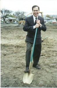Dr. Antonio Abiog during the ground-breaking ceremony at Northside Community Center
