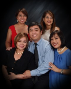 The Lardizabal siblings of Cebu City, Philippines. From left to right: Seated - Lorna, David, & Noemi. Standing - Belen & Myrna