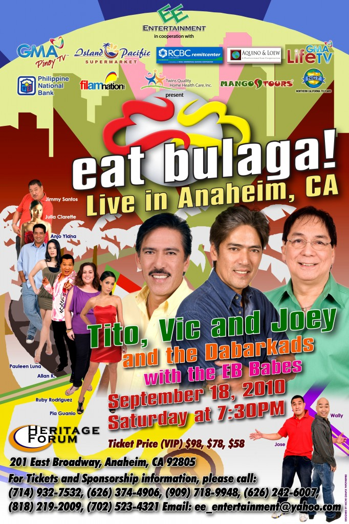 Eat Bulaga! Live in Anaheim, CA on Sept. 18, 2010