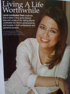 Myrna de Vera - article in Zee Lifestyle Magazine June 2010