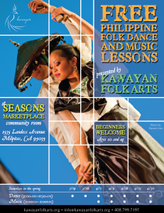 Kawayan Folk Arts at Seasons Marketplace at Landess, Milpitas - FREE Philippine Folk Dance Lessons Spring 2011